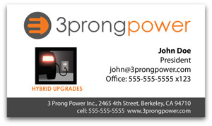 3Prong power business card