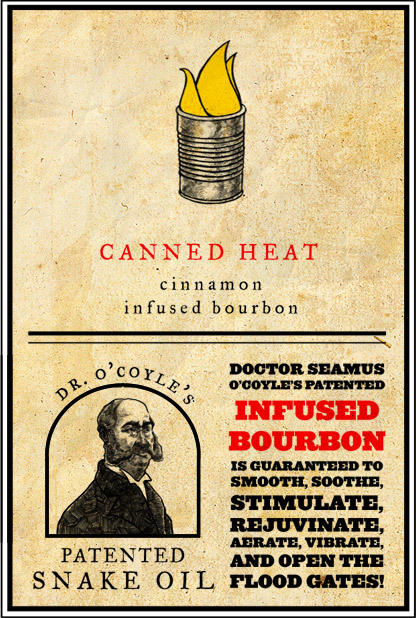 Dr. O'Coyle's Snake Oil label - Canned Heat